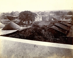 Panoramic view of the town from the top of the Jami Masjid, Khambhat (Cambay). Section 3, north-east